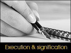 execution et signification